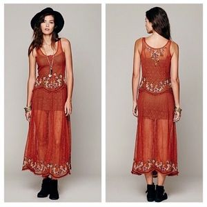 NWT Free People Cross Stitch My Heart Slip Dress